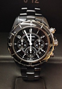 Chanel replica J12 Chronograph H0940 Black Ceramic