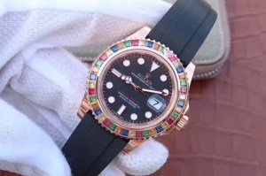 REPLICA ROLEX YACHTMASTER 116695SATS TUTTI FRUTTI – RAINBOW ON THE WRIST2