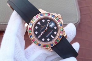 REPLICA ROLEX YACHTMASTER 116695SATS TUTTI FRUTTI – RAINBOW ON THE WRIST3