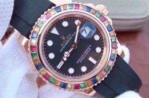 REPLICA ROLEX YACHTMASTER 116695SATS TUTTI FRUTTI – RAINBOW ON THE WRIST4