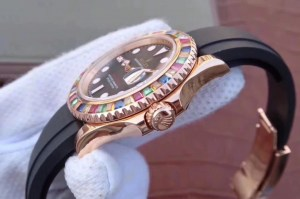 REPLICA ROLEX YACHTMASTER 116695SATS TUTTI FRUTTI – RAINBOW ON THE WRIST5