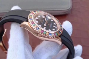 REPLICA ROLEX YACHTMASTER 116695SATS TUTTI FRUTTI – RAINBOW ON THE WRIST6