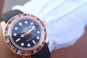REPLICA ROLEX YACHTMASTER 116695SATS TUTTI FRUTTI – RAINBOW ON THE WRIST9