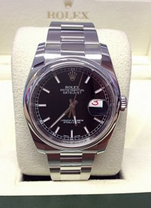 Rolex replica Datejust 116200 36mm Black Dial