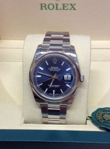Rolex replica Datejust 116200 36mm Blue Baton