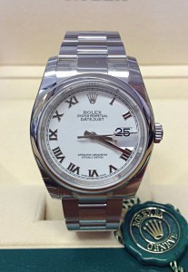 Rolex replica Datejust 116200 36mm White Roman