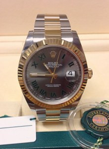 Rolex replica Datejust 41 126333 Bi:Colour Wimbledon Dial2