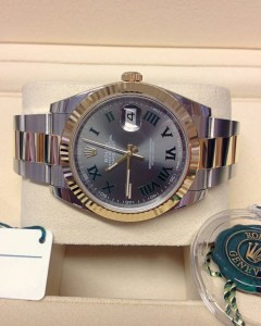 Rolex replica Datejust 41 126333 Bi:Colour Wimbledon Dial3