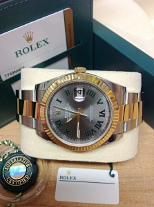 Rolex replica Datejust 41 126333 Bi:Colour Wimbledon Dial7
