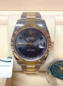 Rolex replica Datejust 41 126333 Bi:Colour Wimbledon Dial
