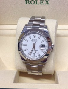 Rolex replica Datejust II 116300 41mm White Dial