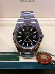 Rolex replica Datejust II 116334 Black Baton Dial5