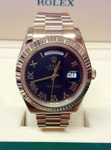 Rolex replica Day-Date II 218238 Black Roman