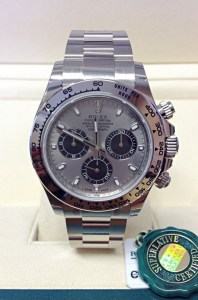 Rolex replica Daytona 116509 White Gold Steel Dial