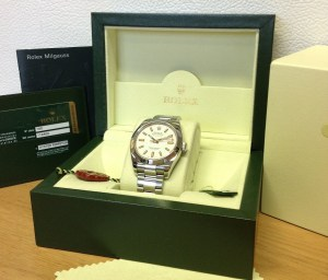 Rolex replica Milgauss White Dial 116400 copia4