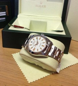 Rolex replica Milgauss White Dial 116400 copia