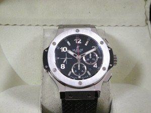 hublot replica big bang ghiera acciaio strip rubber4