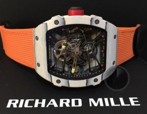 richard mille replica rafa nadal strip nylon orange